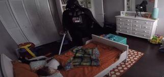 Star Wars Hayranı Çocuk ve Darth Vader Babası